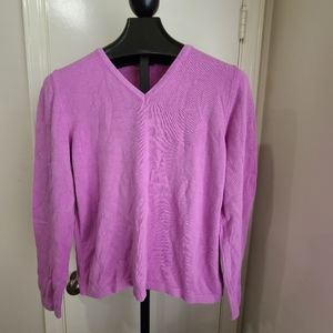 Lilly Pulitzer Purple V-neck Sweater
